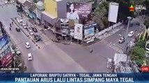 Lalu Lintas di Simpang Maya Tegal Lancar