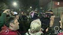 Grève du 27 décembre : des manifestants tentent de bloquer un dépôt de bus RATP