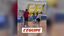 Cristiano Ronaldo donne une leçon de saut à Novak Djokovic - Foot - Tennis - WTF