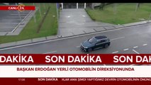 Başkan Erdoğan, mavi SUV modeli kullanıyor