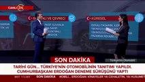 Cumhurbaşkanı Erdoğan direksiyon başında