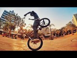 Guy Performs BMX Flatland in Front of Crowd of People