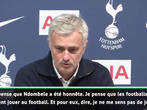 """20e j. - Mourinho: """"Ndombele a été honnête"""""""