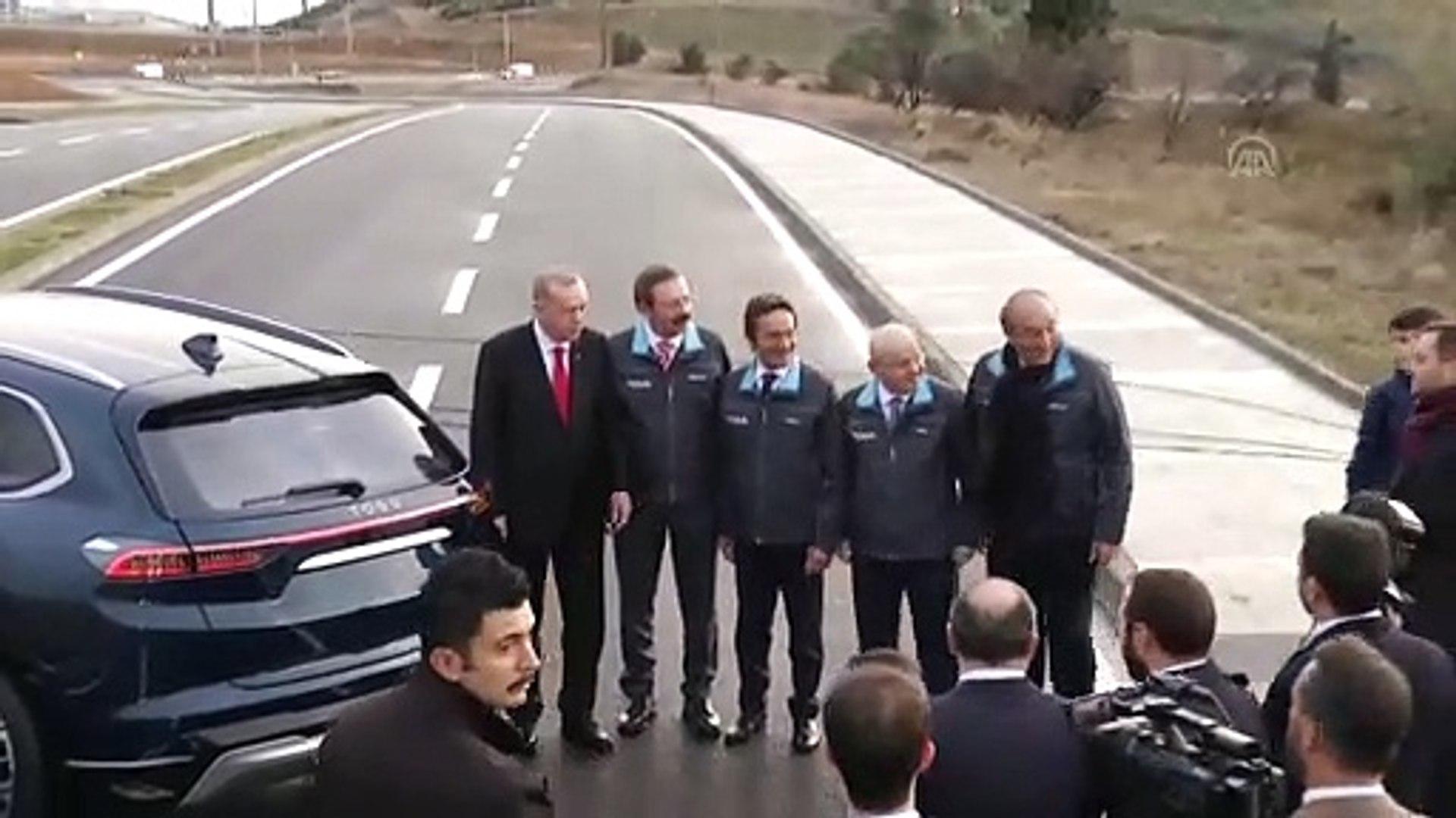 Cumhurbaşkanı Erdoğan yerli otomobili kullandı (2) - KOCAELİ