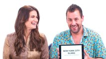 Adam Sandler & Idina Menzel Teach You New York Slang