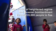 Syria: Activists distribute Christmas presents at camp for displaced
