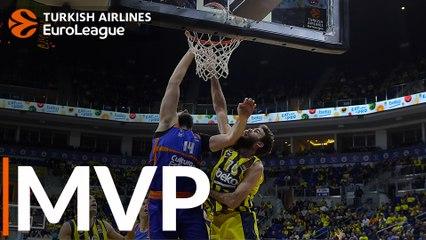 Round 16 MVP: Bojan Dubljevic, Valencia Basket