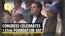 On Congress' Foundation Day, Leaders Read Constitution Preamble