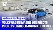 Volkswagen imagine des robots pour charger automatiquement les voitures électriques