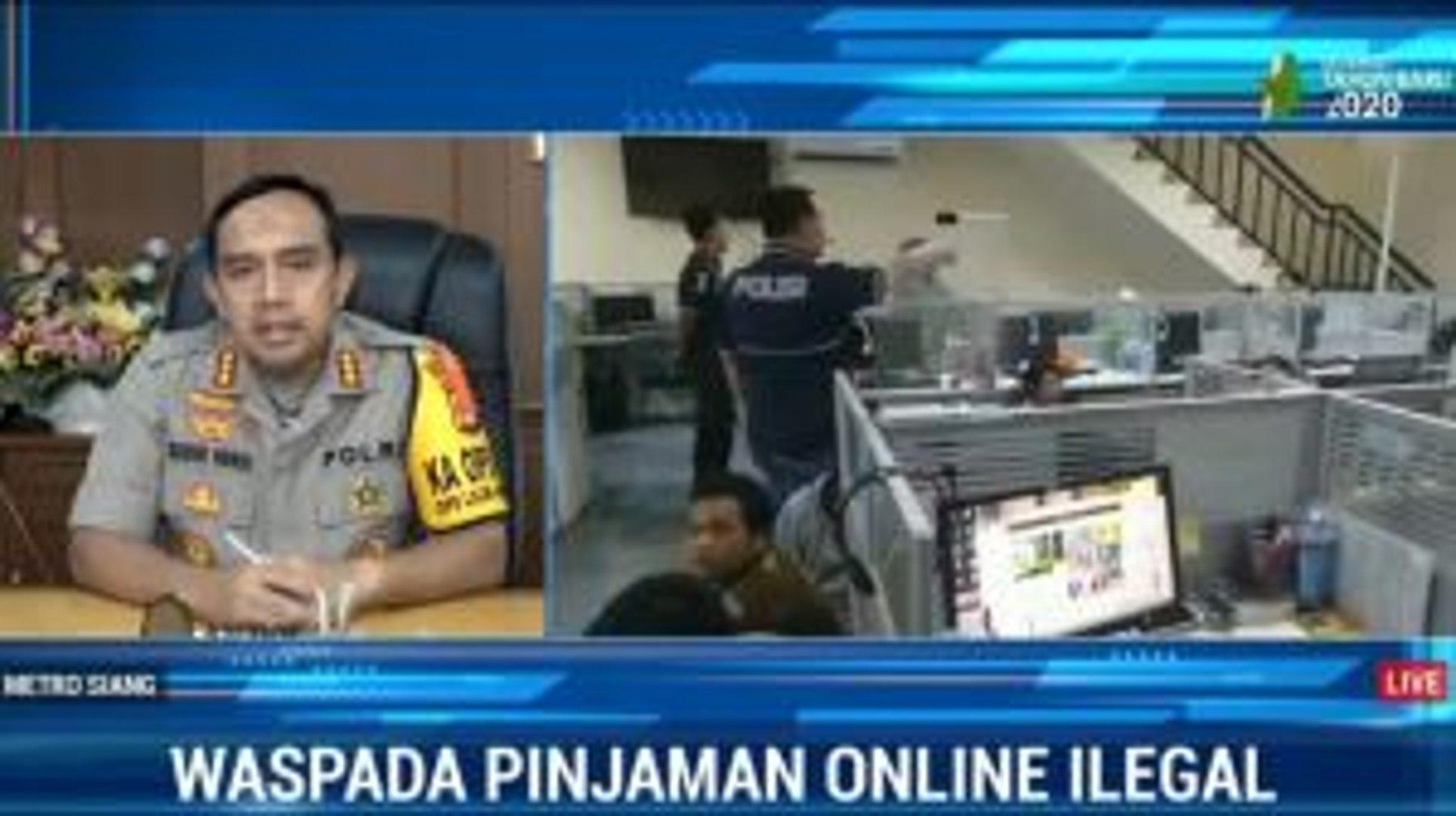 Polisi Usut Sumber Modal Pinjaman Online Ilegal Di Pluit Video