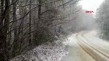 Çatalca'da kar yağışı