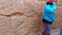 Man Climbs Stone Wall with Extreme Speed