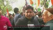 Inde : deux semaines de manifestation contre une loi d'immigration