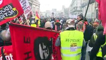 Manifestaciones y transportes perturbados en el 24º día de huelga en Francia
