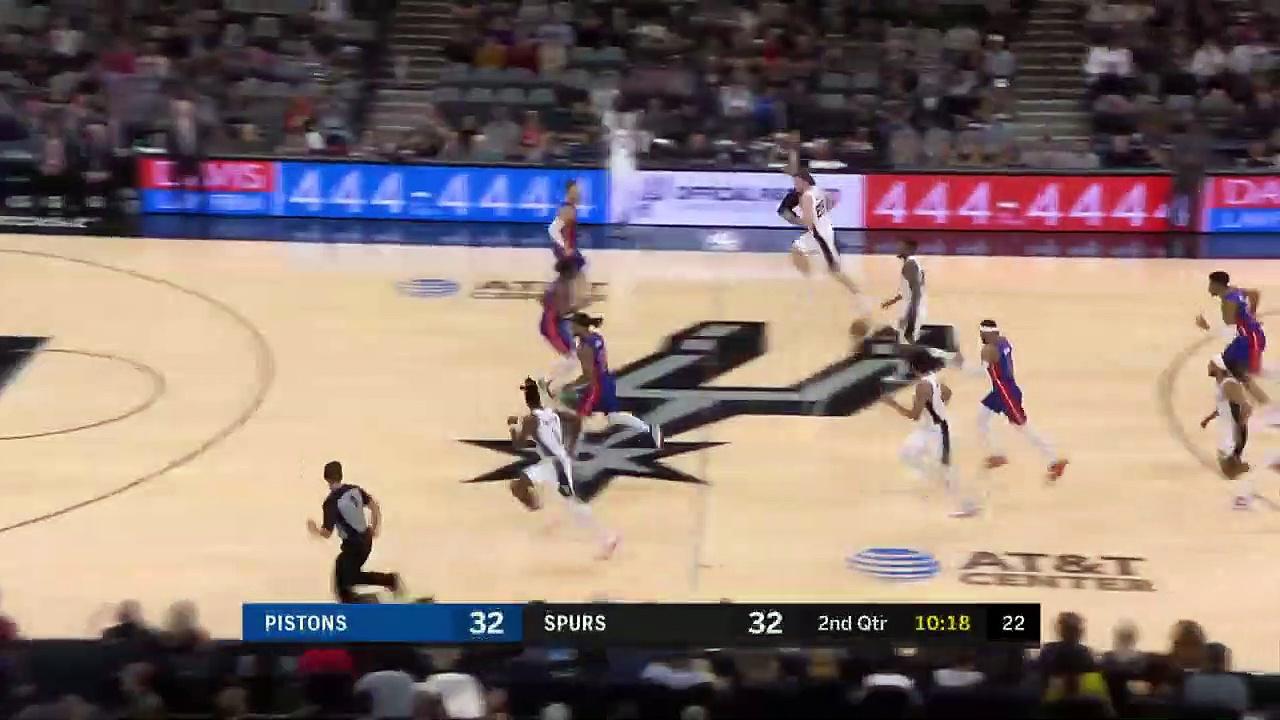 Detroit Pistons 109 - 136 San Antonio Spurs