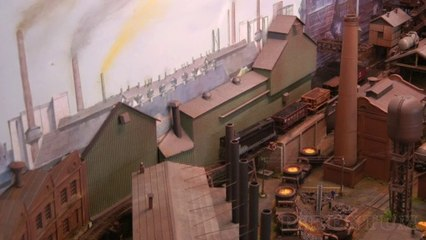 N Scale Steel Mill or Steelworks Scale Model including Rail Traffic and Industrial Trains - Video by Pilentum Television about rail transport modeling, trains, model railroading, railway modelling, model railways and model railroads