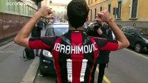 Zlatan Ibrahimovic já tem os dois pés de novo no AC Milan