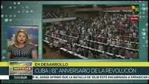 El pueblo cubano celebra 61 años de proceso revolucionario