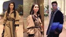 Warina Hussain And Karan Johar Spotted At Airport