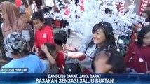 Menikmati Sensasi Turun Salju di Lembang