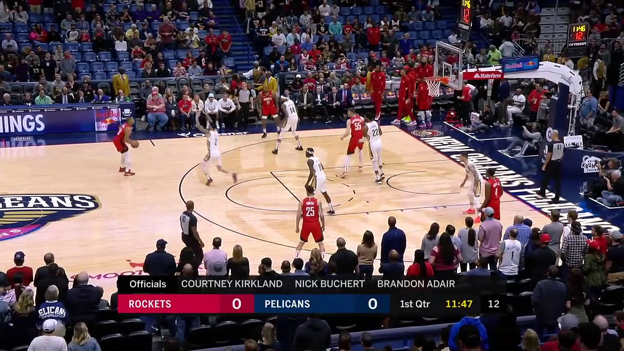 Houston Rockets 112 - 127 New Orleans Pelicans