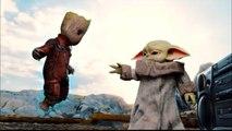 Baby Yoda vs Baby Groot