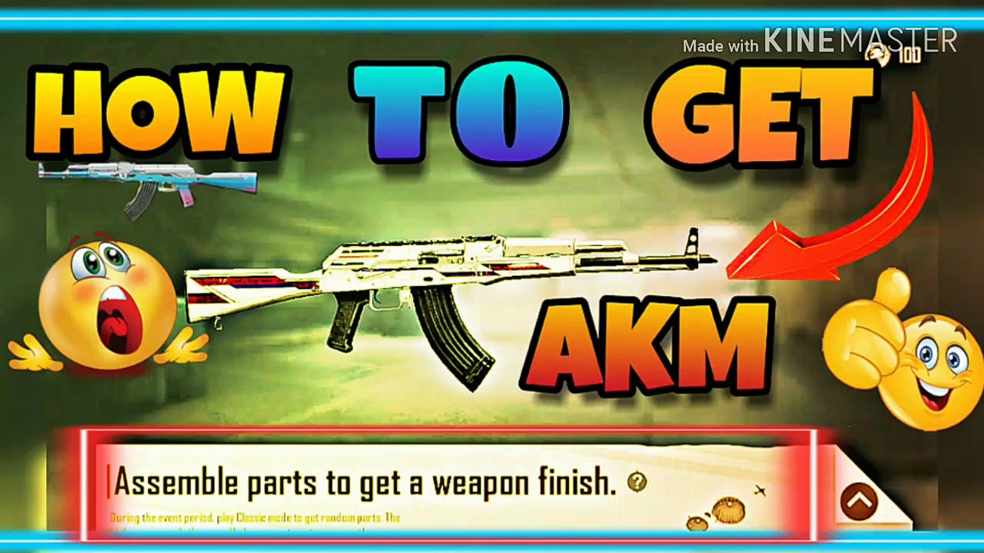 Assemble parts to get a weapon finish in pubg mobile NEW TRIKE||PUBG MOBILE||