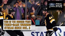 Ford Final Five: Bruins Win Streak At Three Games After Win Vs. Sabres