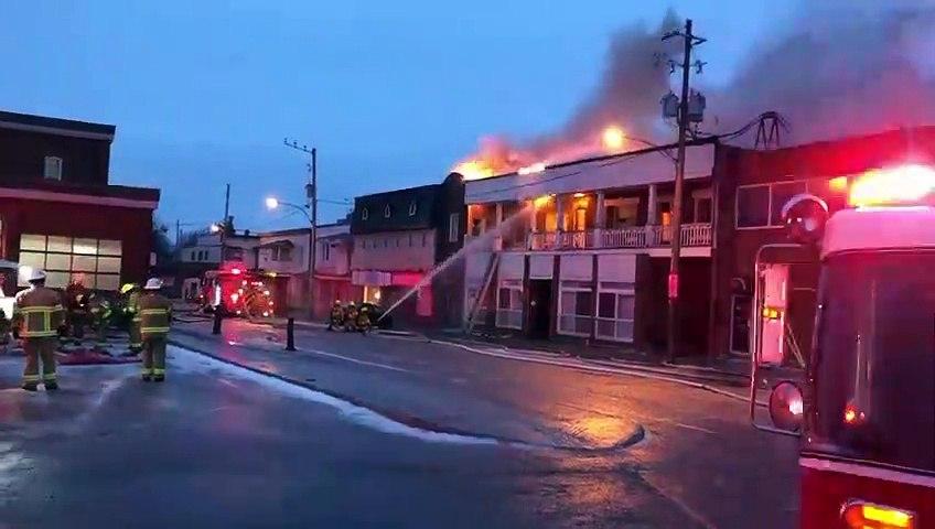 Incendie centre-ville