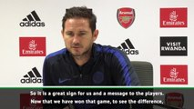 Late Chelsea victory a big message for the players - Lampard