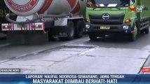 Hati-hati! Jalur Pantura Juwana-Batangan Rusak