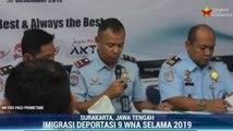 Imigrasi Surakarta Deportasi 9 WNA Selama 2019