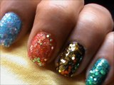 Sequins Nail Art Designs!