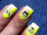 Spongebob Nail Art Designs_ NO DRAWING!!  _Cute nail designs_