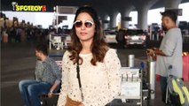 Spotted: Hina Khan at the Airport as she flies off to Raipur for New Year's Eve
