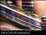 Striping Tape Nail Art Tutorial (2)