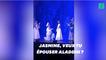 Aladdin fait sa demande en mariage à Jasmine sur une scène britannique
