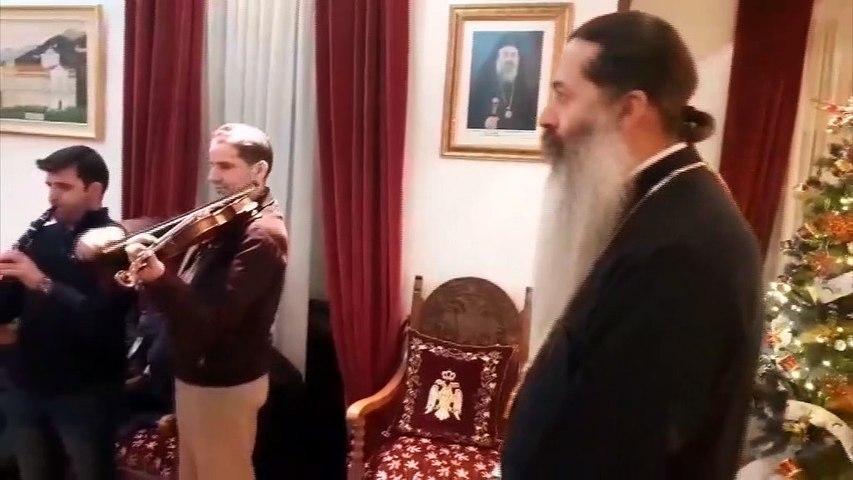 Τα πρωτοχρονιάτικα κάλαντα από την Βυζαντινή Σχολή στον κ.Συμεών