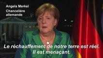"""Il est """"encore possible d'agir"""" contre le réchauffement climatique (Merkel)"""