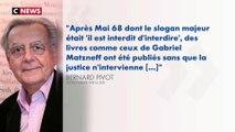Affaire Matzneff : Bernard Pivot «regrette» de «ne pas avoir eu les mots qu'il fallait»