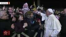 Watch: Pope Francis Reacts To Woman Sharply Yanking Him Toward Her