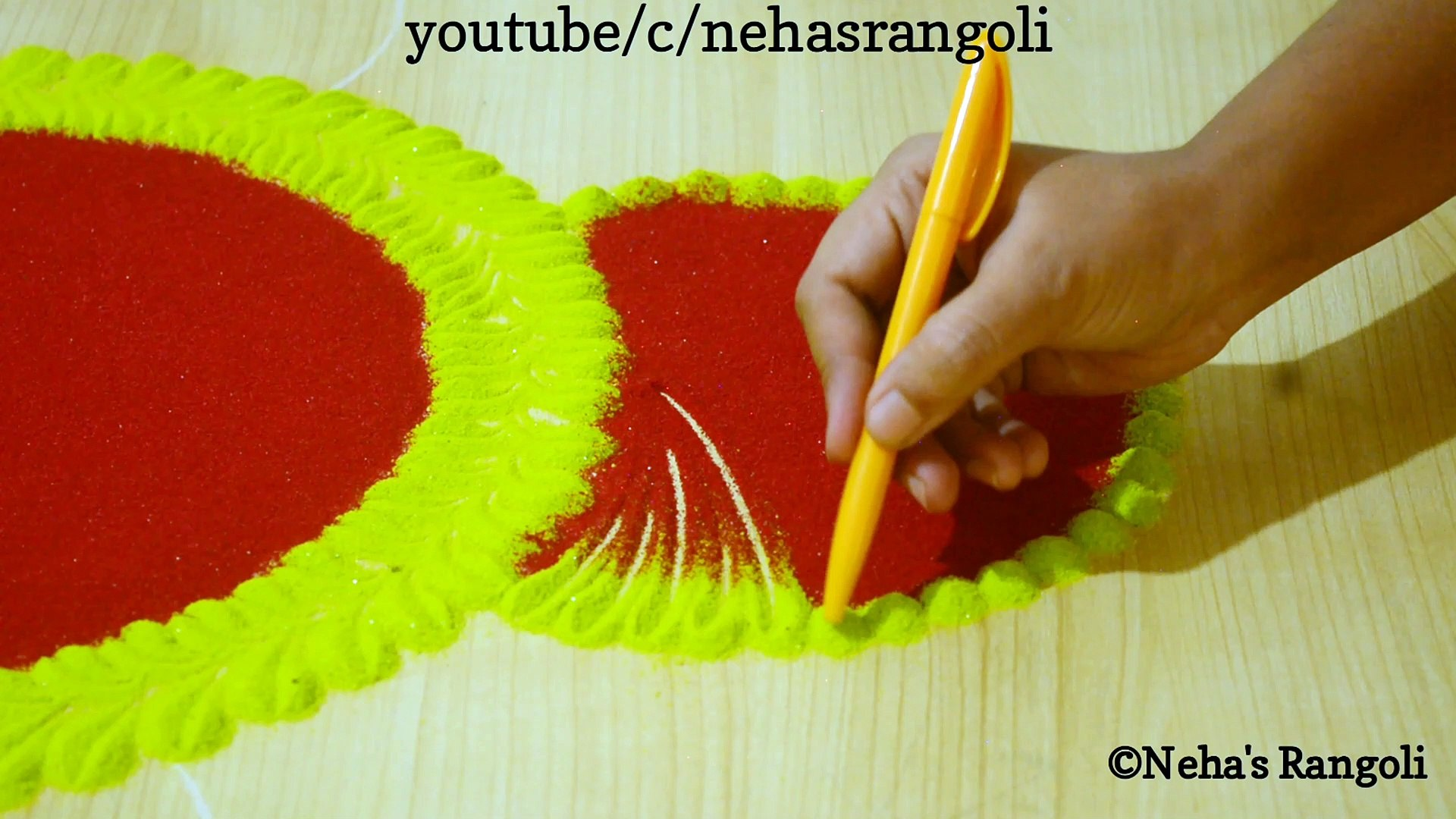 Happy New Year 2020 | Easy And Attractive Rangoli Design For New Year 2020 |आसान रंगोली डिजाईन २०२०