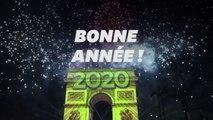 Bonne année 2020! Les images du réveillon du Nouvel An sur les Champs-Élysées