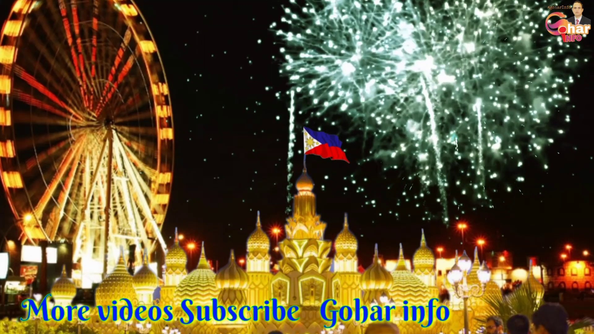 Live Global village fireworks for Philippines new year 2020  -fireworks -globalvillage -goharinfo