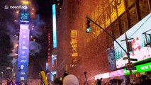 New Year's celebrations held at iconic Times Square, New York