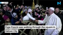 OMG! Why Pope Francis gets angry and SLAPS woman on New Year's Eve