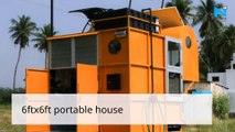 Tamil Nadu youth develops portable house on auto rickshaw