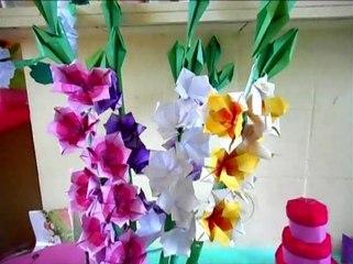 Origami Gladiolus Flowers