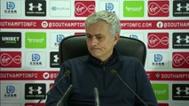 """I was rude to an idiot"" says Mourinho after being yellow carded during 1-0 defeat at Southampton"