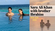 Sara Ali Khan kicks off New Year 2020 with brother Ibrahim